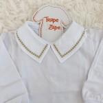 body branco com gola bordado trigo bege