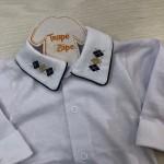 body camisa gola com bordado
